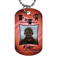 Redninjatag3 By Lmw   Dog Tag (two Sides)   Efov4vwhcqut   Www Artscow Com Front