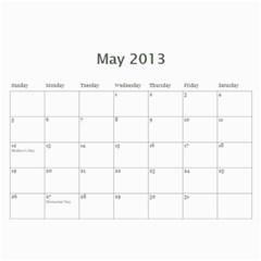 Calendar2013 By Jennifer Gageby   Wall Calendar 11  X 8 5  (12 Months)   Msa25345e2pu   Www Artscow Com May 2013