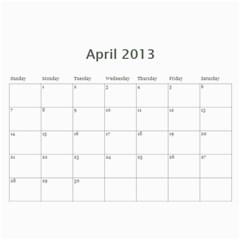 Calendar2013 By Jennifer Gageby   Wall Calendar 11  X 8 5  (12 Months)   Msa25345e2pu   Www Artscow Com Apr 2013