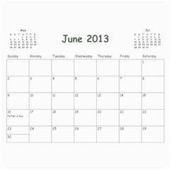 Calendar For Mom & Papa 2013 By Carrie Wardell   Wall Calendar 11  X 8 5  (12 Months)   92nk03zxm66z   Www Artscow Com Jun 2013