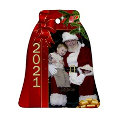 Christmas Memories Bell Ornament (2 Sided) By Deborah   Bell Ornament (two Sides)   Qa0gtnh49tmi   Www Artscow Com Back