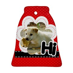 Hi By Divad Brown   Bell Ornament (two Sides)   Qhxp6apa3wr9   Www Artscow Com Front