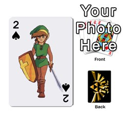 Zelda By Cheesedork   Playing Cards 54 Designs   Xocoxcamh6mu   Www Artscow Com Front - Spade2