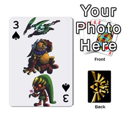 Zelda By Cheesedork   Playing Cards 54 Designs   Xocoxcamh6mu   Www Artscow Com Front - Spade3