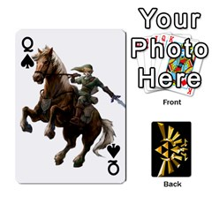 Queen Zelda By Cheesedork   Playing Cards 54 Designs   Xocoxcamh6mu   Www Artscow Com Front - SpadeQ