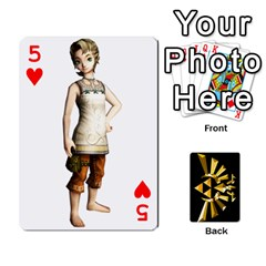 Zelda By Cheesedork   Playing Cards 54 Designs   Xocoxcamh6mu   Www Artscow Com Front - Heart5