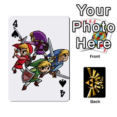 Zelda By Cheesedork   Playing Cards 54 Designs   Xocoxcamh6mu   Www Artscow Com Front - Spade4