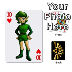 Zelda By Cheesedork   Playing Cards 54 Designs   Xocoxcamh6mu   Www Artscow Com Front - Heart10