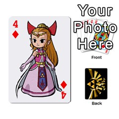 Zelda By Cheesedork   Playing Cards 54 Designs   Xocoxcamh6mu   Www Artscow Com Front - Diamond4