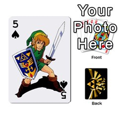 Zelda By Cheesedork   Playing Cards 54 Designs   Xocoxcamh6mu   Www Artscow Com Front - Spade5