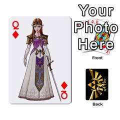 Queen Zelda By Cheesedork   Playing Cards 54 Designs   Xocoxcamh6mu   Www Artscow Com Front - DiamondQ