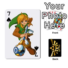 Zelda By Cheesedork   Playing Cards 54 Designs   Xocoxcamh6mu   Www Artscow Com Front - Spade7