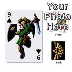 Zelda By Cheesedork   Playing Cards 54 Designs   Xocoxcamh6mu   Www Artscow Com Front - Spade9