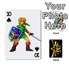 Zelda By Cheesedork   Playing Cards 54 Designs   Xocoxcamh6mu   Www Artscow Com Front - Spade10