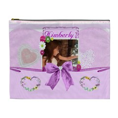 Pink Layered Cosmetic Bag  2 (xl) By Kim Blair   Cosmetic Bag (xl)   Df3erp4i1rm3   Www Artscow Com Front