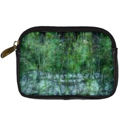Green Mystery By Susanne Alexander   Digital Camera Leather Case   B4qh9ainyoci   Www Artscow Com Front