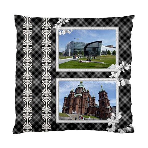 Black And White Cushion Case By Deborah   Standard Cushion Case (one Side)   5ofoo483lm96   Www Artscow Com Front