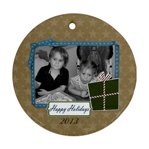 2012 Ornament 2 By Martha Meier   Ornament (round)   Be4xoc1vakek   Www Artscow Com Front
