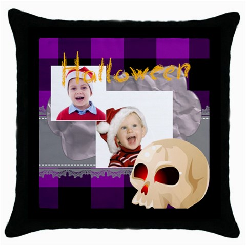 Halloween By May   Throw Pillow Case (black)   M6hg2lbb7nhb   Www Artscow Com Front