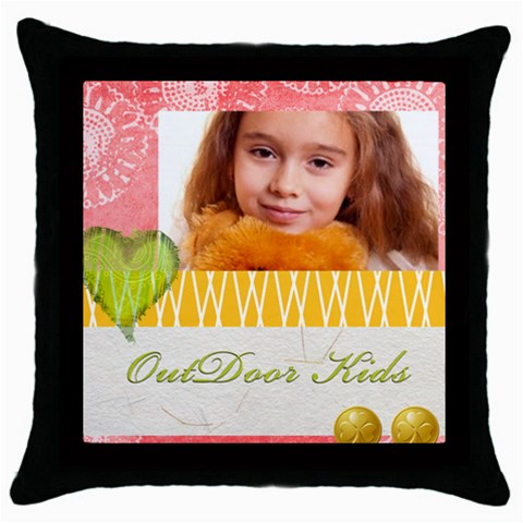 Kids By Joely   Throw Pillow Case (black)   G7r5s22skjq9   Www Artscow Com Front