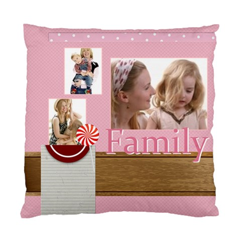 Family By Joely   Standard Cushion Case (one Side)   6gztff1jdlrl   Www Artscow Com Front