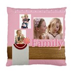 family - Standard Cushion Case (One Side)