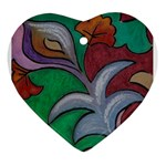 hummingbird heart - Ornament (Heart)