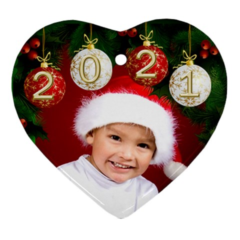 Heart Ornament 2016 By Deborah   Ornament (heart)   61f7a4uvm83e   Www Artscow Com Front