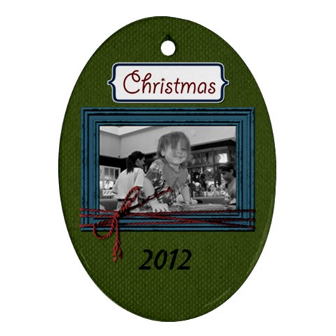 I Believe Ornament 8 By Martha Meier   Ornament (oval)   00ig1a3ylzx0   Www Artscow Com Front