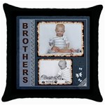 Brothers Throw Pillow Case - Throw Pillow Case (Black)