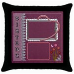Sisters Throw Pillow Case - Throw Pillow Case (Black)