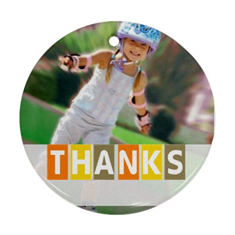 Thank By May   Ornament (round)   Suioofn52596   Www Artscow Com Front