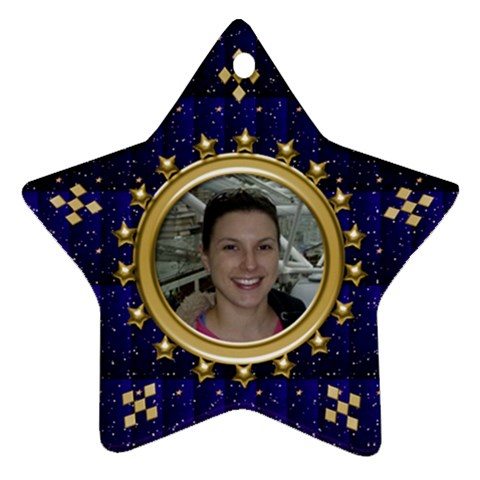 Blue Sparkle Star Ornament By Deborah   Ornament (star)   Xd7ktasmdrk7   Www Artscow Com Front