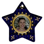 Blue Sparkle Ornament (2 sided) - Star Ornament (Two Sides)