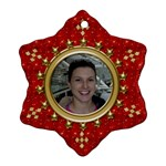 Red Sparkle Snowflake Ornament - Ornament (Snowflake)