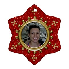 Red Sparkle Snowflake Ornament (2 Sided) By Deborah   Snowflake Ornament (two Sides)   Dssibcn0qkky   Www Artscow Com Front