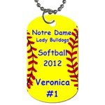 ND Softball - Dog Tag (Two Sides)