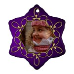 Purple and gold Snowflake Ornament - Ornament (Snowflake)