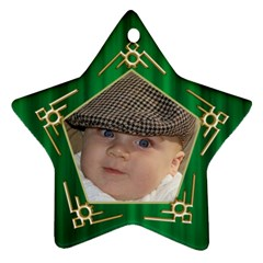 My Star Ornament (2 Sided) By Deborah   Star Ornament (two Sides)   5boirpx1xh3a   Www Artscow Com Back