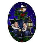 Christmas Cheer Oval Ornament - Ornament (Oval)