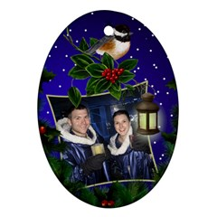 Chrismas Cheer Oval Ornament (2 Sided) By Deborah   Oval Ornament (two Sides)   Tmtwjp653aiq   Www Artscow Com Back