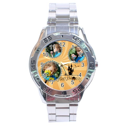 Halloween By M Jan   Stainless Steel Analogue Watch   Iif1dz2cfv0s   Www Artscow Com Front
