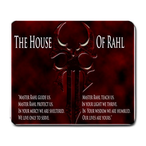 The House Of Rahl By Richard Rahl   Large Mousepad   Saagltc9p4z0   Www Artscow Com Front