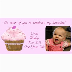 Hailey Thank You s By Becky   4  X 8  Photo Cards   Ko6n8903k3b7   Www Artscow Com 8 x4 Photo Card - 1