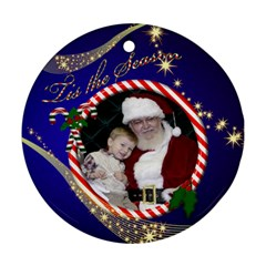 The Season Round Ornament (2 Sided) By Deborah   Round Ornament (two Sides)   A23pjup6q3r2   Www Artscow Com Back