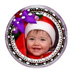 Christmas Lilac Filigree Ornament (2 sided) - Round Filigree Ornament (Two Sides)