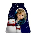Snowmen Bell Ornament (2 sided) - Bell Ornament (Two Sides)