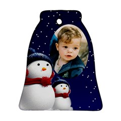 Snowmen Bell Ornament (2 Sided) By Deborah   Bell Ornament (two Sides)   Rhnreej7oacj   Www Artscow Com Back