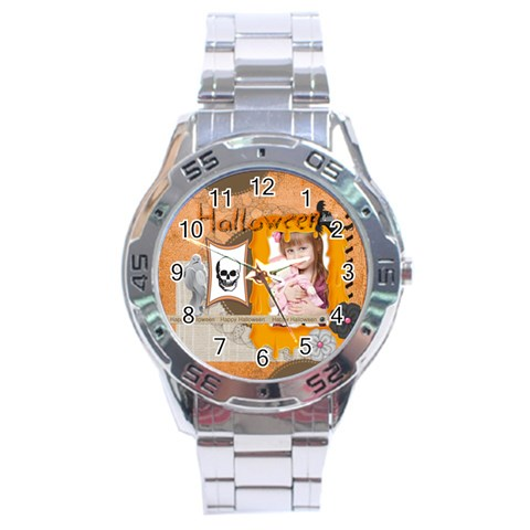 Halloween By Jo Jo   Stainless Steel Analogue Watch   Bdste5p4f9nt   Www Artscow Com Front