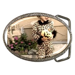 Trick Or Treat Baby Belt Buckle (oval)